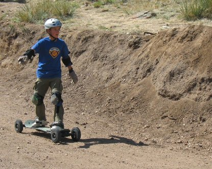 Mountain Boarding at Summer Camp