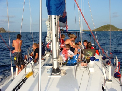 On Deck in the British Virgin Islands