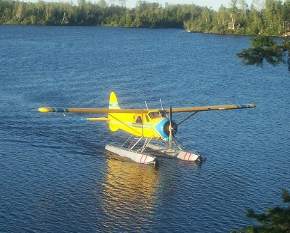 Our Floatplane Taxiing in