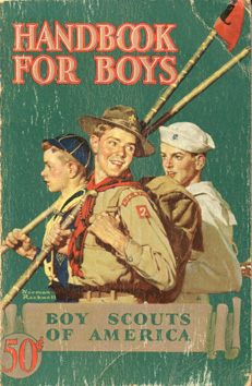 Norman Rockwell BSA Boy Scout Print MANY TRAILS 1937